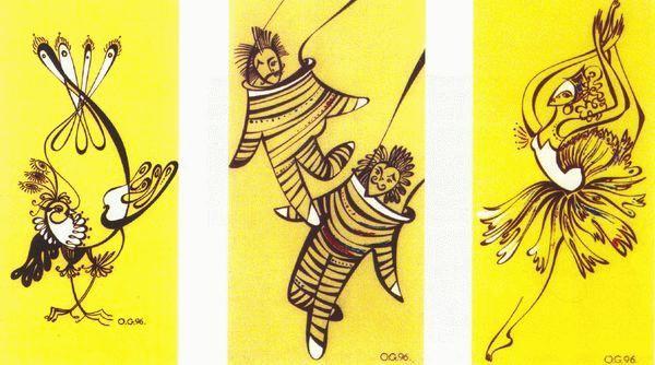 эскизы кукол:
