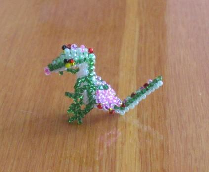 Игрушка дракончик бисер леска