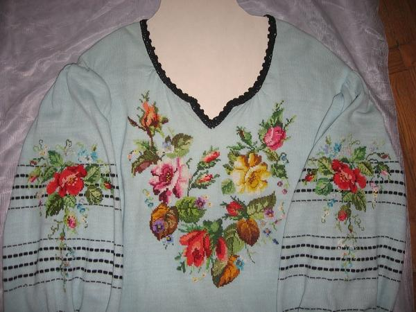 Вишивка блузки хрестиком 65