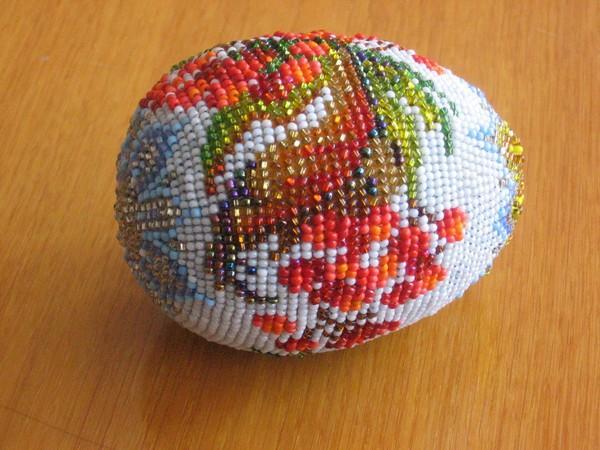 Оплетение шарика бисером