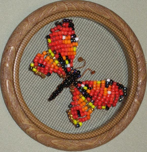 Бабочка вышивка бисером