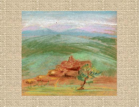 Pastell, Landschaft, Krim